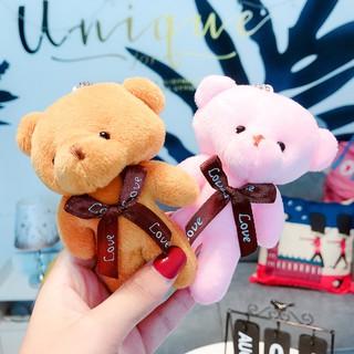 [CÓ SẴN] Móc Treo Chìa Khóa Oto Xe Máy Gấu Bông Cute - Móc Treo Balo Thời Trang