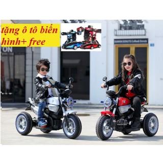 Xe máy điện trẻ em KKL-118 (tặng oto biến hình +free)