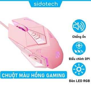 Chuột Máy Tính Màu Hồng Gaming Dễ Thương SIDOTECH Inphic W5P Tắt Âm Silent Chơi Game Cho Streamer 4000 DPI Siêu Nhạy thumbnail