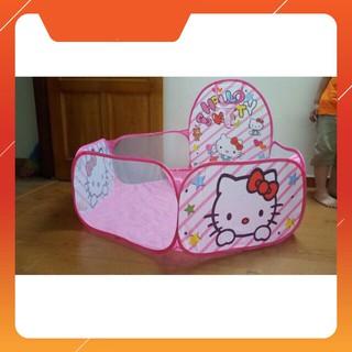 HN – Lều Bóng Hello Kitty Hồng Kèm 100 Bóng