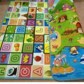 Thảm xốp chơi Maboshi 2 mặt hàng loại 1 cho bé