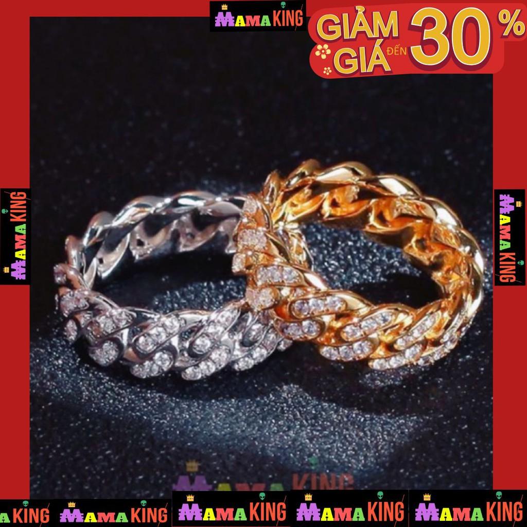 [Mã SKAMA07 giảm 8% đơn từ 250k] <HÀNG SẴNC> NHẪN HIPHOP CUBAN RING by MAMA KING