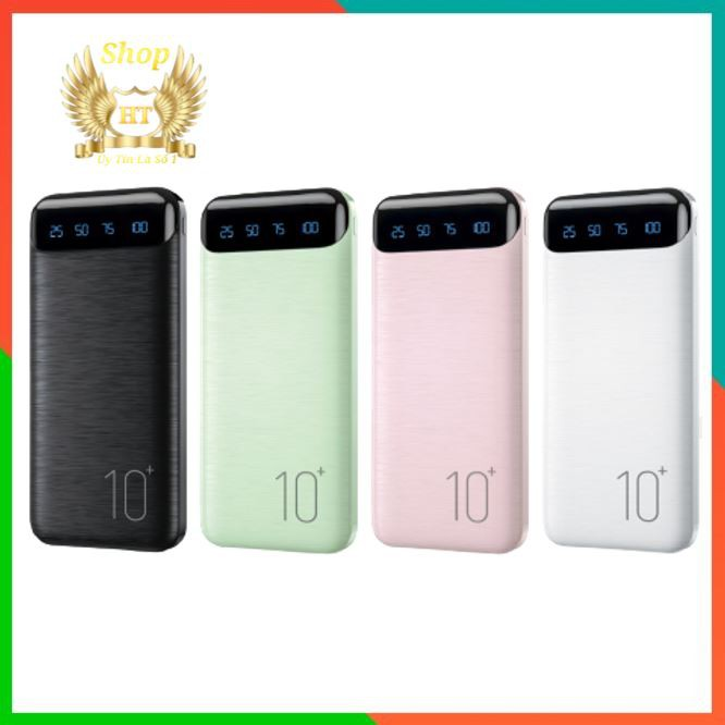 [Siêu Giảm Giá] Sạc dự phòng chính hãng 10000mah WK - WP161 hỗ trợ sạc nhanh có 2 cổng USB, 1 cổng micro, 1 cổng typec