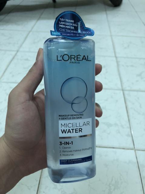 Đánh giá sản phẩm Nước tẩy trang cho mọi loại da L'Oreal Paris 3-in-1 Micellar Water 400ml của n*****7