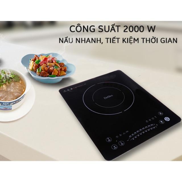 Bếp Điện Từ BDT01, mặt kính cường lực, nút cảm ứng, nhiều chế độ nấu (mới)