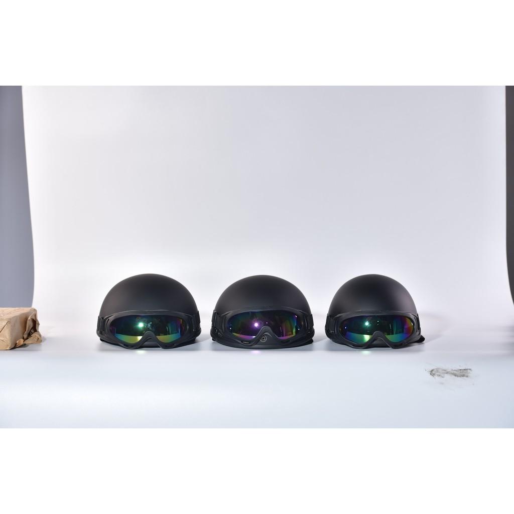 Bộ Ba Mũ Bảo Hiểm Gia Đình - Loại 1/2 Màu Đen Thời Trang, AN TOÀN - B'COLOR