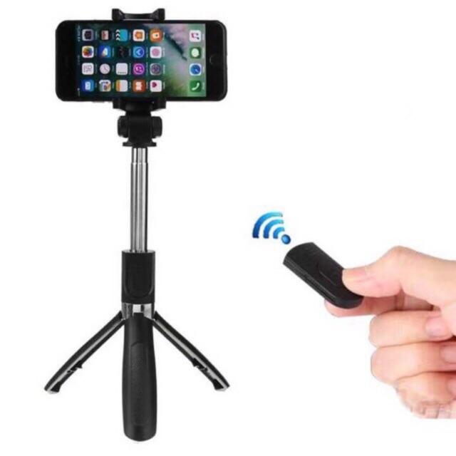 Gậy Tự Sướng Bluetooth Selfie Stick Tripod L01 Có Chân Chụp Ảnh Cao Cấp màu đen