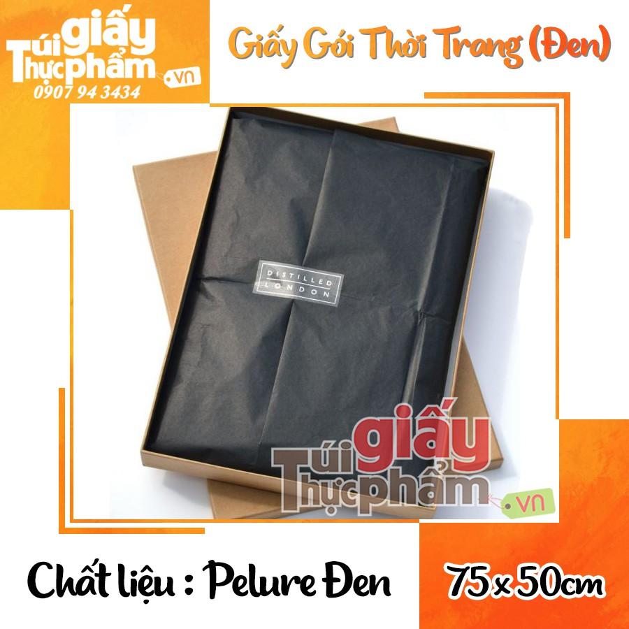 giấy dầu màu đen – giấy đen gói quần áo