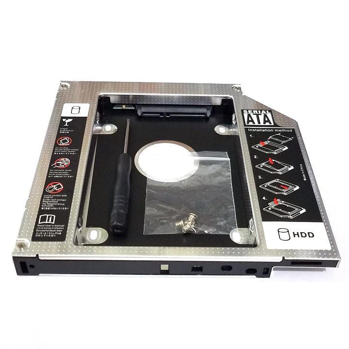 [ƯU ĐÃI KHỦNG ]  Caddy Bay ThinkPad L412 L420 L512 L520 L530 chuẩn SATA 12.7mm khay lắp ổ cứng -TOÀN QUỐC