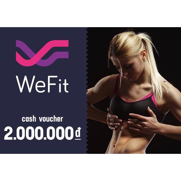 Toàn quốc [Voucher] Phiếu quà tặng WeFit 2000k