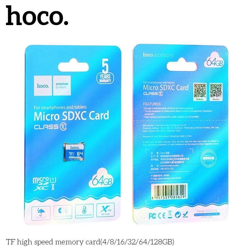 Thẻ Nhớ Micro SD HOCO Real 40-100MB/S Class 10 Dung Lượng 4GB 8GB 16GB