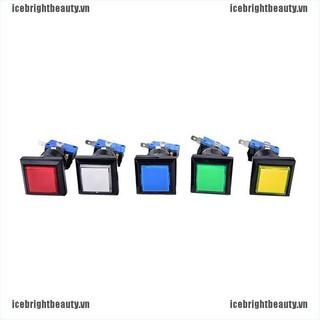 ICE 33mm square game machine push button arcade LED illuminated push button