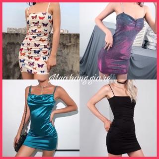 [Mã GIARE giảm 10% đơn 99k] Ảnh thật Váy body Hàn Quốc ulzzang order Taobao