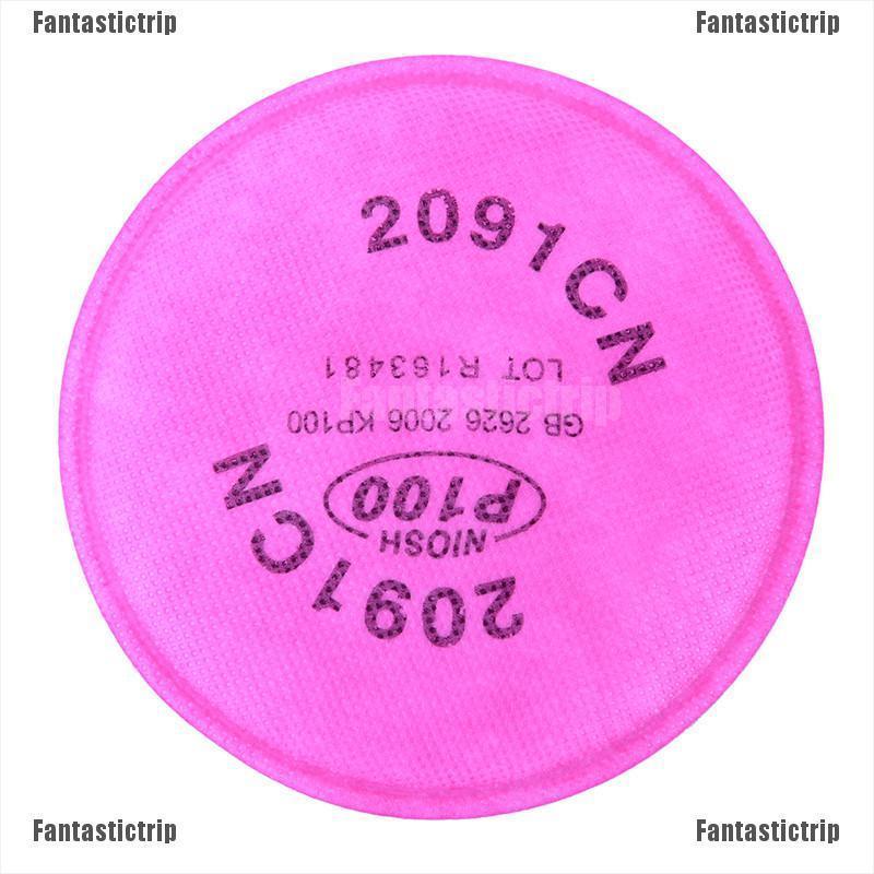 (hàng Mới Về) Set 2 Tấm Lọc Bụi Bẩn P100 P100 Cho Khẩu Trang 5000 6000 7000 Series 2091