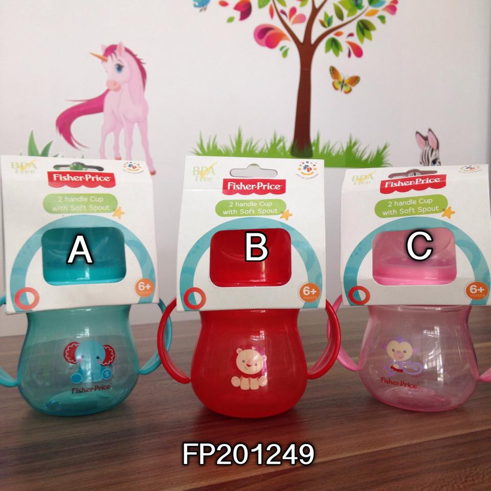 Cốc tập uống núm silicone Fisher Price FP201249 (250ml)