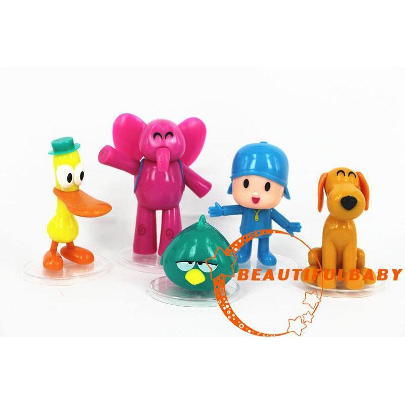 BღBღ5pcs/set Cartoon Pocoyo Zinkia Toys Action Figures Kids Unisex Xmas