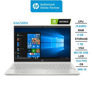 Laptop HP Pavilion 15-cs2120TX (8AG58PA) (i5-8265U | 8GB | 1TB | VGA MX130 2GB | 15.6