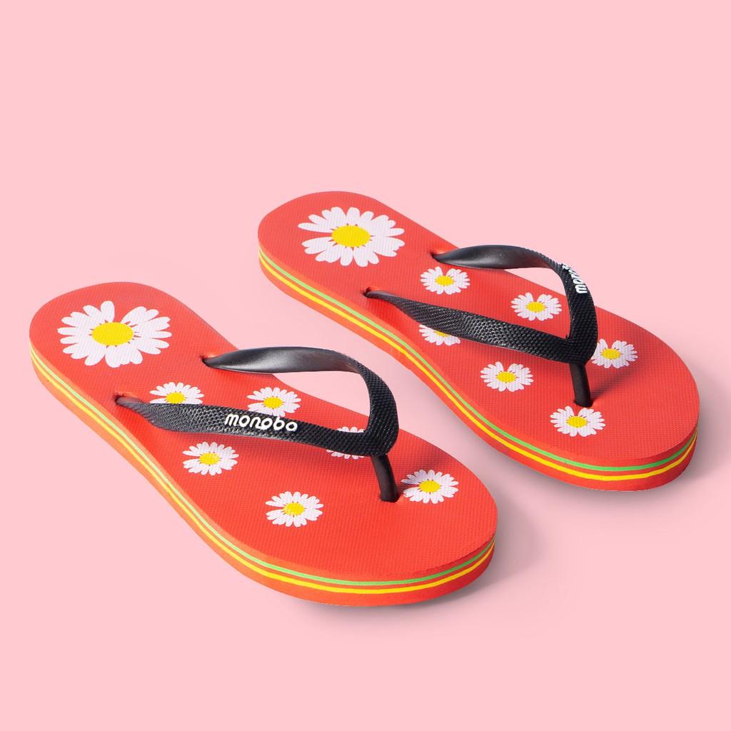 Carl & Ane - Dép đi biển xỏ ngón in hình hoạ tiết dễ thương phối quai thời trang DK012