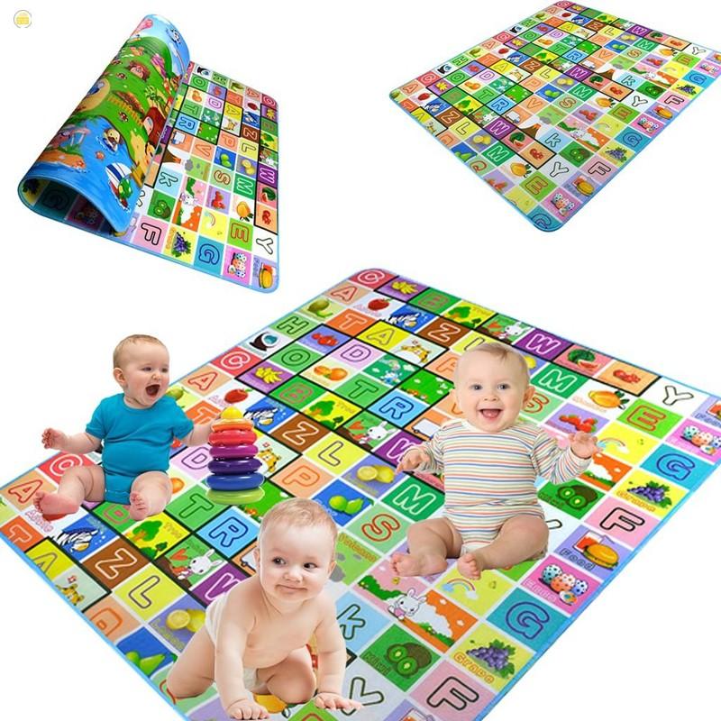 [Bán hết]Thảm 2 mặt cho bé Maboshi 1m8 x 2m cho bé ngồi chơi