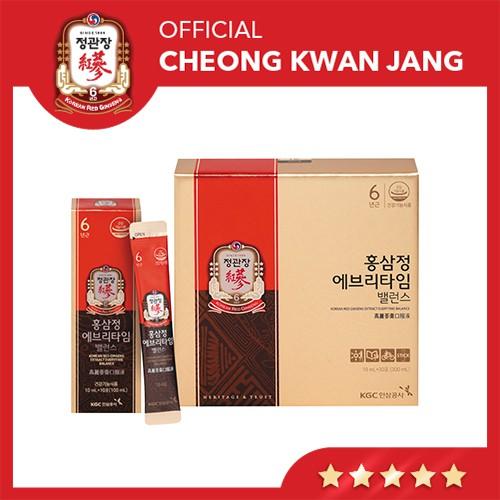Tinh Chất Hồng Sâm Pha Sẵn KGC Cheong Kwan Jang Everytime Balance - Hồng Sâm Lee Min Ho, Nước Hồng Sâm Hàn Quốc