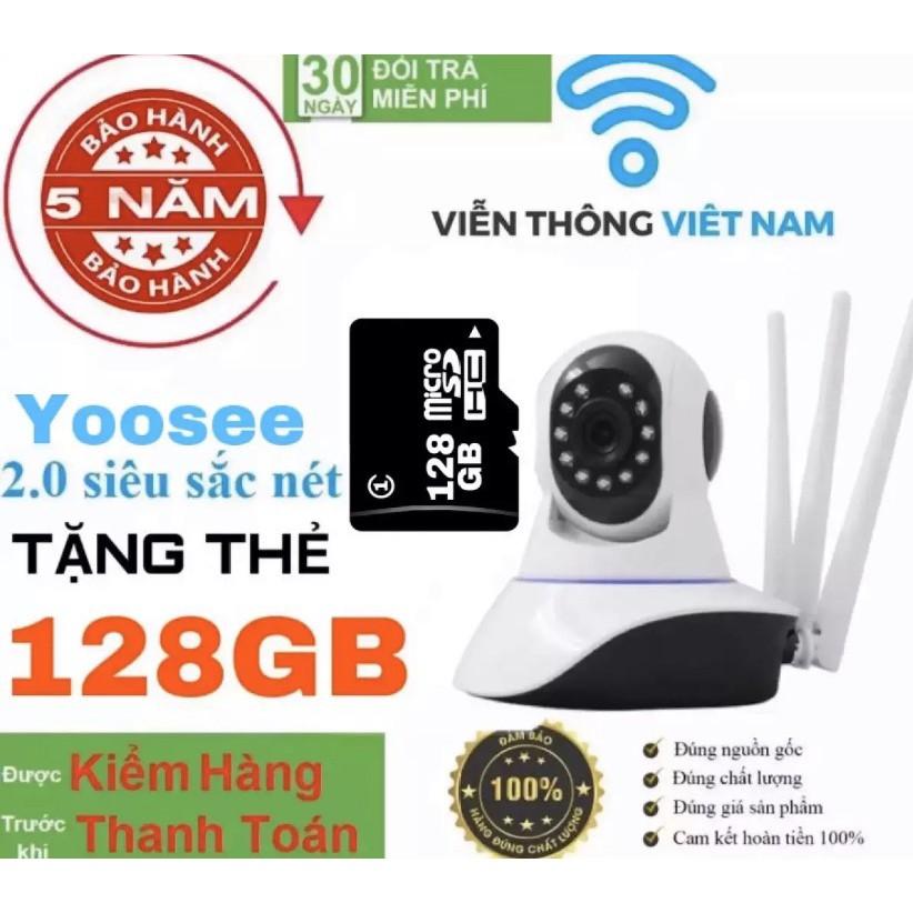 YOOSEE 3 RÂU 2.0 (Tặng Thẻ Nhớ 128GB CHUYÊN DỤNG Trị Giá 450k - BH 5 NĂM 1 ĐỔI 1) - CAMERA WIFI IP TRONG NHÀ