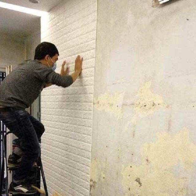 Giấy Dán Tường 3D Giả Gạch Bóc Dán / Chịu lực, chống nước, chống ẩm mốc