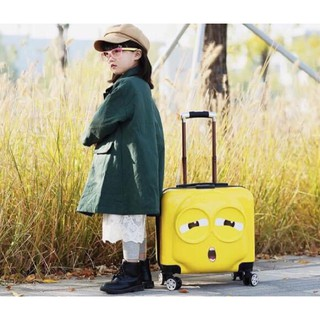 Hàng Nhập Khẩu_Vali Kéo cho bé minion 3 cảm xúc dễ thương cho bé giá rẻ nhất shopee ( HÀNG CÓ SẴN)