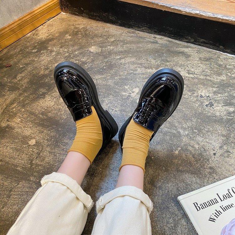 Giày Lười Mũi Tròn Đế Bằng Thời Trang Mùa Xuân Cho Nữ
