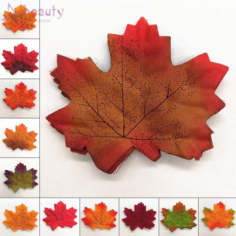 Set 50 lá phong rơi mùa thu giả dành cho trang trí tiệc cưới/ vườn nhà
