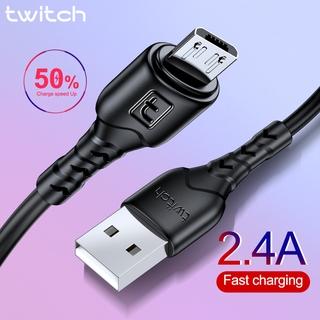 Dây cáp sạc Twitch cổng Micro USB 2.4A hỗ trợ sạc nhanh cho Samsung Xiaomi Huawei LG