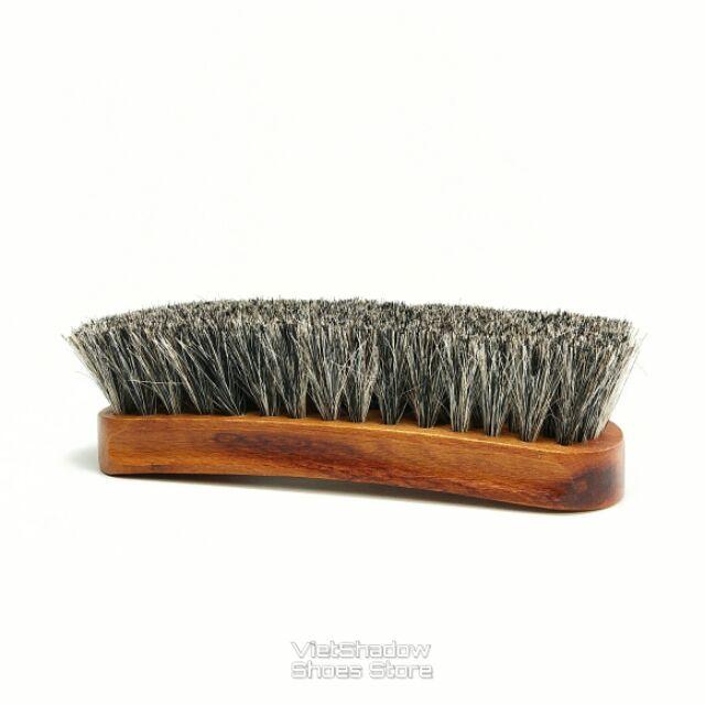 Bàn chải lông ngựa Eykosi loại trung dài 16,7cm - Dùng đánh giày, đồ da hoặc chải quần áo