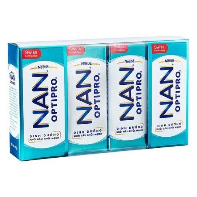 Lốc 4 hộp Sữa dinh dưỡng pha sẵn NESTLE NAN OPTIPRO hộp pha sẵn