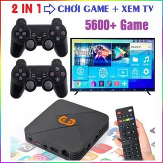 Tận +5600game Máy Chơi Game Cầm Tay 4 Nút HDMI Không Dây Tích Hợp Android Tivi Box chơi game PSP PS1 FC NES N64 thumbnail