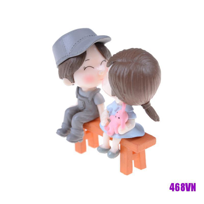 [DOU]3pcs/set Lovers Miniature Landscape Ornaments Garden Bonsai Dollhouse Decoration