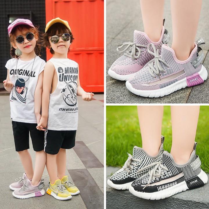 Giày thể thao cho bé trai và bé gái cao cấp từ 2 - 16 tuổi siêu nhẹ êm, thoáng chân G04