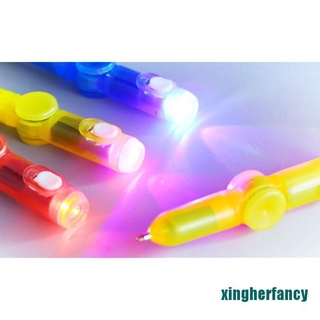 XYCC Interesting Toy Fingertip Rotating spinner Gyro toy Pen Led Luminous Gyro Pen XJSS