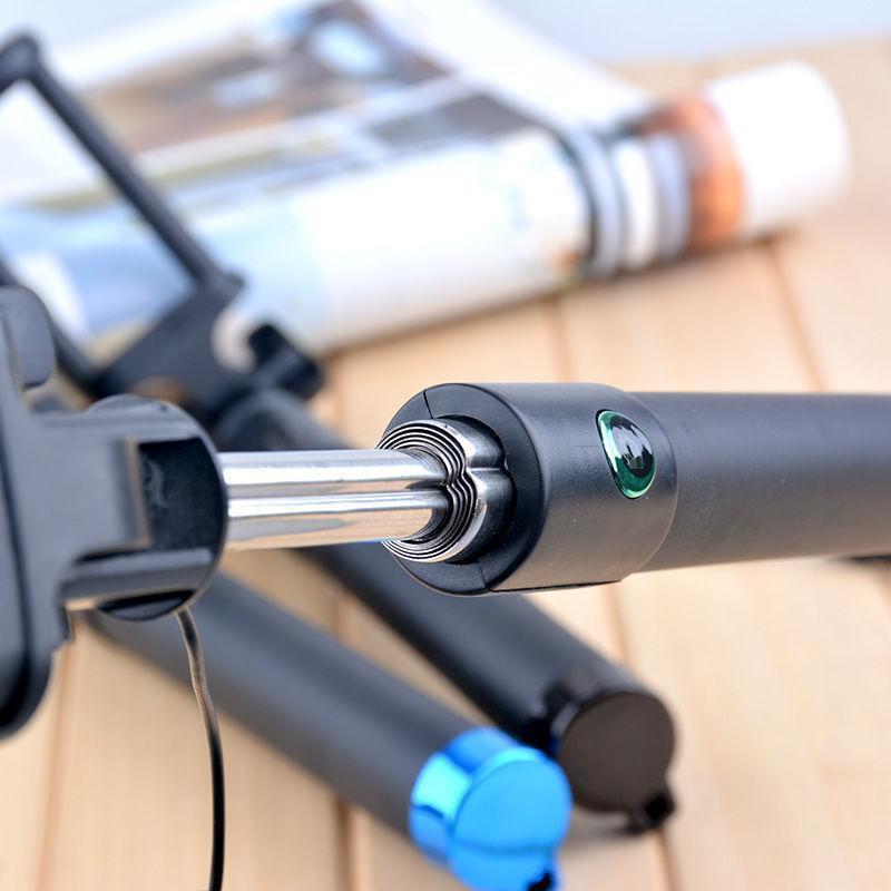 Gậy Chụp hình tự sướng xi sắt Dài 70cm chất lượng cao - Jack 3.5 phù hợp mọi dòng điện thoại