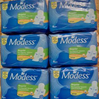 [Combo 6 gói]Băng vệ sinh Modess 8 miếng (chu kỳ)