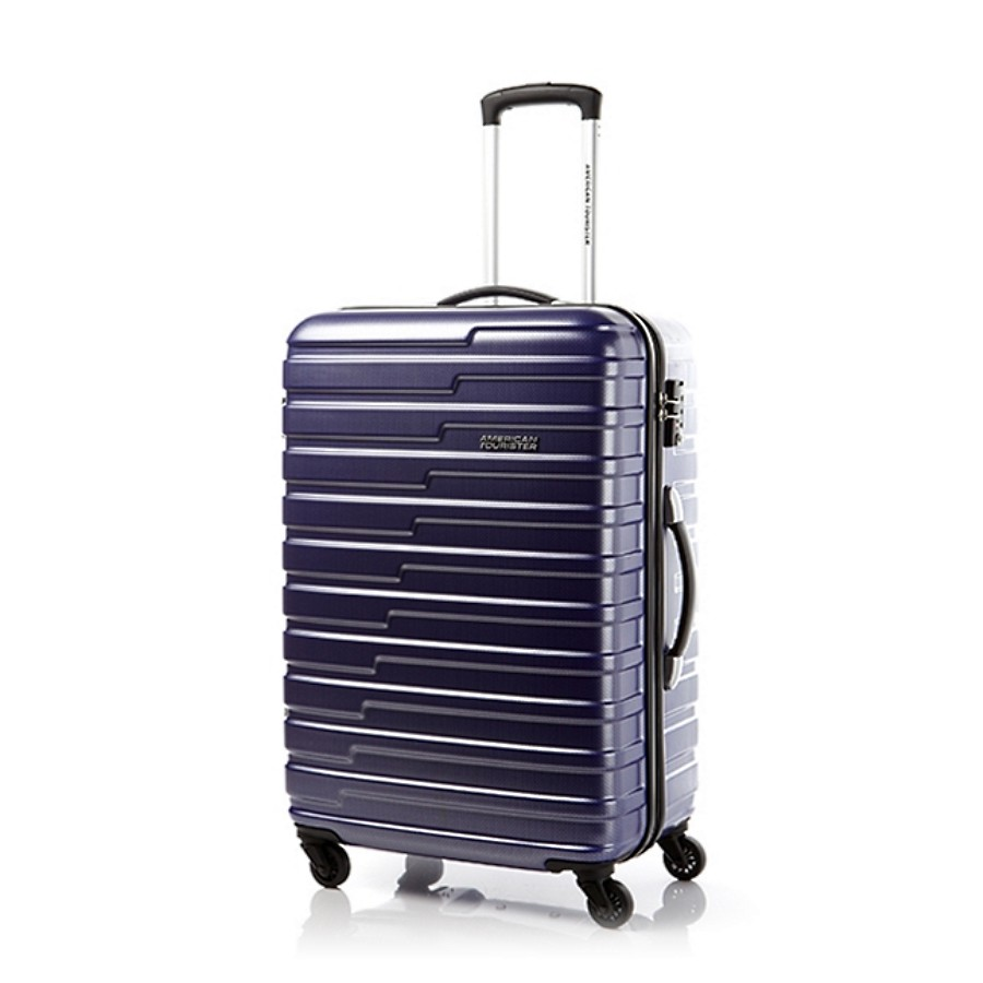Vali American Tourister BF9*72002 AT HANDY SPINNER 70 TSA - MATTE BLUE CHECKS