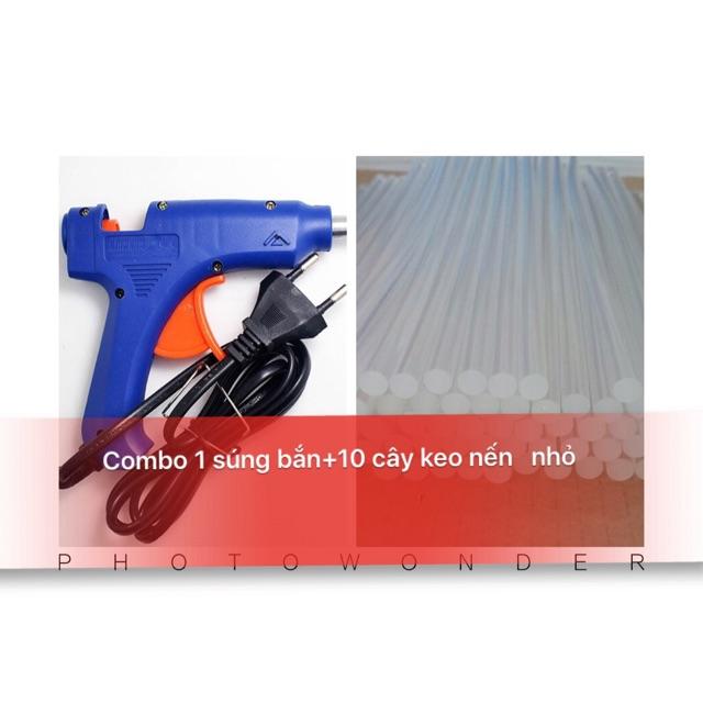 Combo Súng Bắn Keo+10 Keo Nến Nhỏ Dài 25cm