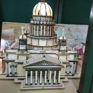 Mô hình lắp ghép bằng gỗ 3D Nhà thờ Christian Cathedral Laser
