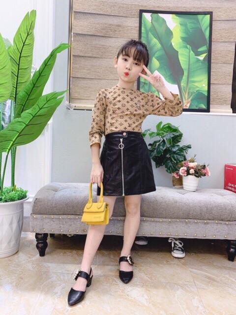 Áo giấy họa tiết nhiều màu cho bé gái(8-22kg)
