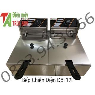 Bếp Chiên Điện Đôi 12L – Bếp Chiên Nhúng Đôi 12L ( Dày hơn bản trên thị trường)