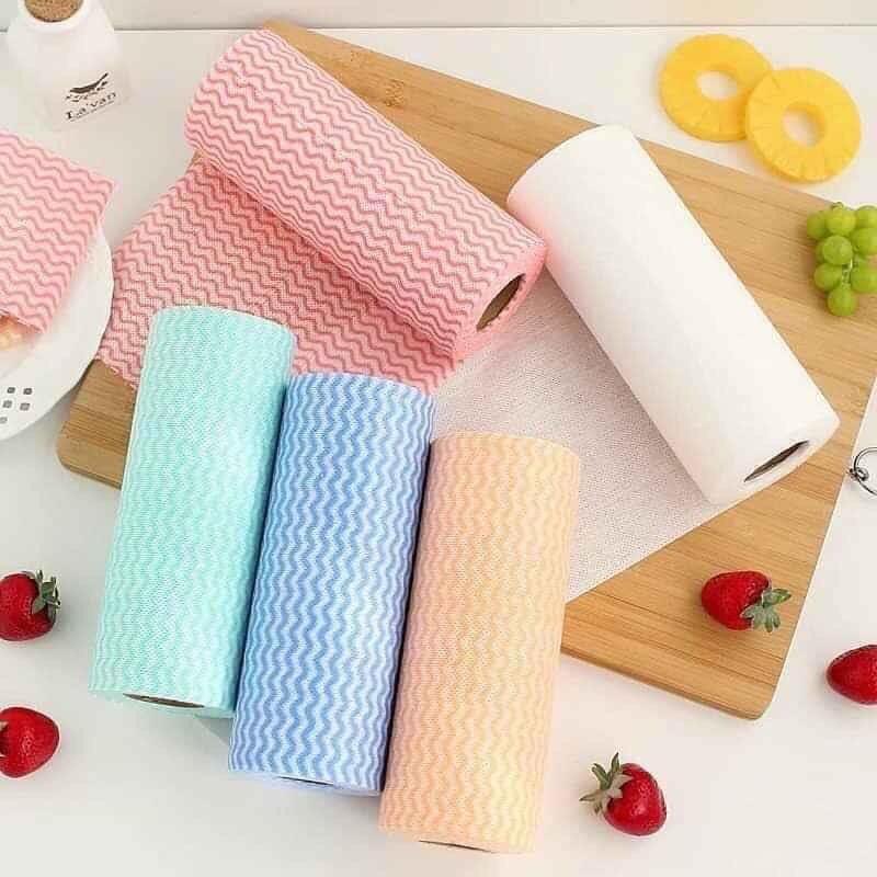 Cuộn giấy lau đa năng siêu tiết kiệm 50 tờ