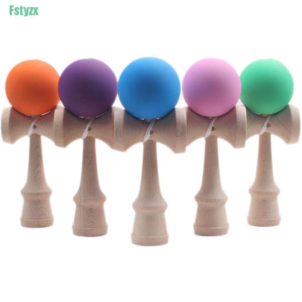 fstyzx 1 Pcs Kendama Japanese Traditional Game Skillful Wooden Toy Rubber Paint Ball