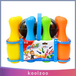 12Pcs Plastic Mini Bowling Ball Toy Kit Kids Toddlers Sport Game Educational Toy Birthday Gift