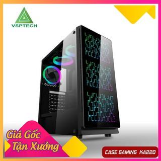 Vỏ Case Gaming VSP KA-220 NEBULA Kính Cường Lực (No Fan) - Shop Sói Hoang thumbnail
