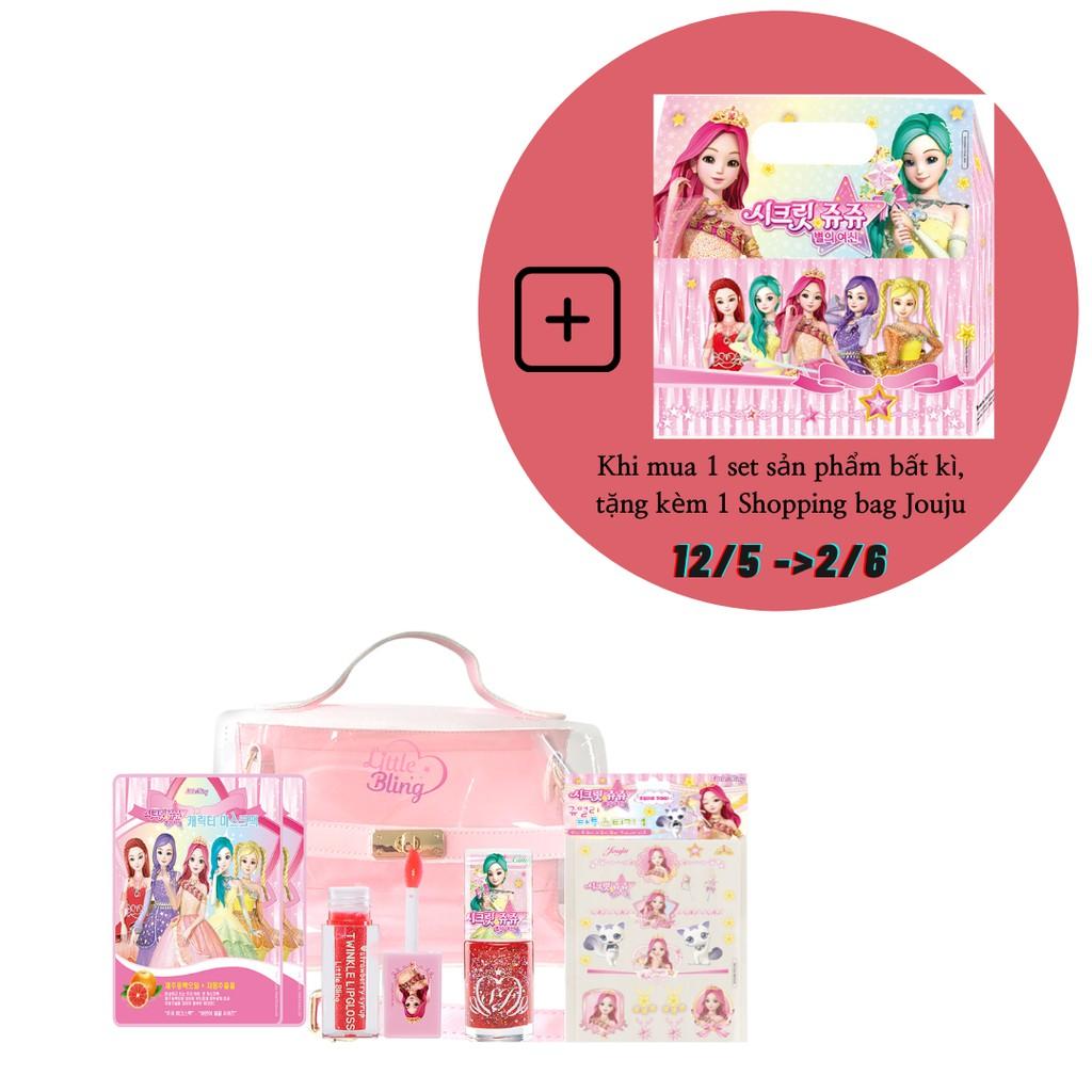 Bộ đồ chơi trang điểm cho bé Little Bling Secret Jouju Glossy Set- MADE IN KOREA