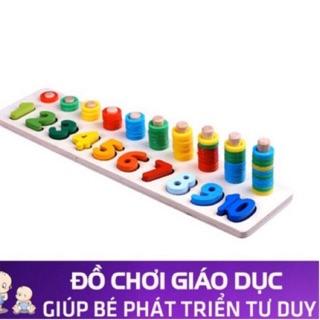 Đồ chơi thông minh học đếm số hình bậc thang cho bé