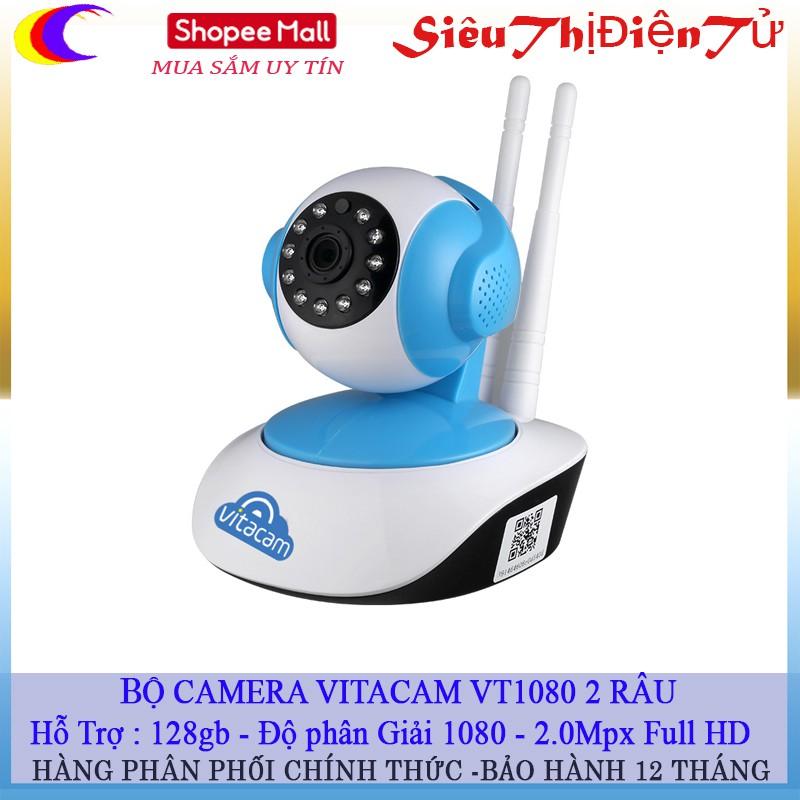 Vitacam VT1080 Camera Ip Wifi 1080P 2.0Mpx Full HD Xoay 355 độ, đàm thoại 2 chiều